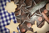 Ingredients for baking Christmas cookies — Stock Photo