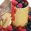 Fresh berries on a wooden table   — Stock Photo