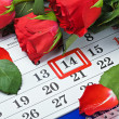Stock Photo: Date of February 14 Valentine's day