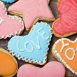 Valentine cookies with the words I love you   — Stock fotografie