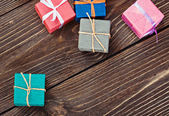Gift box in a colorful package — ストック写真