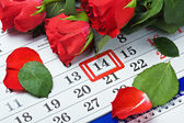 Date of February 14 Valentine's day — Stock Photo
