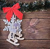 圣诞玩具和装饰 — 图库照片