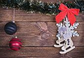 Christmas speelgoed en versieringen — Stockfoto