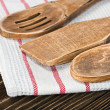 Wooden kitchen utensils — Stock Photo