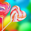 Colorful spiral lollipops — Stock Photo