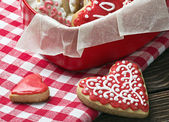 Baked hearts for Valentine's day — Stock Photo