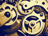 Clock mechanism made in the technique of toning — Stock Photo