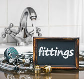 Bathroom fixtures and fittings are of different construction — Stock Photo