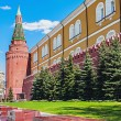 Kremlin Wall and Alexander Garden to the tomb of the unknown sol — Stock Photo