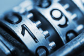 Numbers of metal with very little depth of field — Stock fotografie