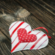 Toy heart on Valentine's Day table — Stock Photo #40390385