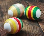 Easter eggs decorated — Stock Photo