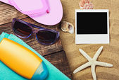 Accessories for the beach — Stock Photo