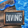 diving and swim mask  — Stock Photo #41360775