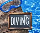 diving and swim mask  — Stock Photo