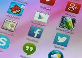 Iconos populares de redes sociales — Foto de Stock