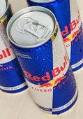 Red Bull is an energy drink sold by Austrian company Red Bull G — Stock Photo