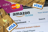 Payment of purchases from the online store Amazon payments using — Stock Photo