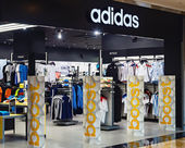 Adidas sportswear store  — Stock Photo