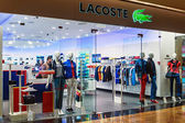 Lacoste shop windows in a shopping center Moscow.   — Stock Photo