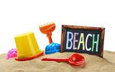 игрушки для песочницы изолированные — Стоковое фото
