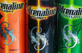 various energy drinks adrenaline rush  — Stock Photo