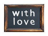 Blackboard and chalk inscription love  — Stock Photo