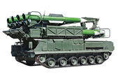 "Anti-aircraft missile system ""Buk-M2"" — Stock Photo"