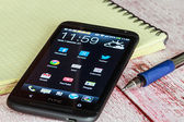 HTC Mobile Phone with Android applications  — Foto Stock