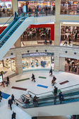People enter to Metropolis shopping center in Moscow, Russia  — Stock Photo
