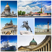 Set photos of St Petersburg's attractions  — Stock Photo