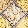 Italian pasta assortment of different — Stock Photo