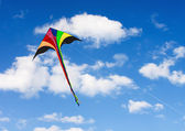 Kite soars in the sky with clouds — Stock Photo