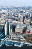Old quarters of the Stalin era and new buildings in Moscow  — Stock Photo