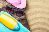 Things for a beach holiday  — Stock Photo