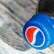 Plastic bottle with cola drink Pepsi — Stock Photo