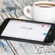 Google app open in the mobile phone HTC — Stock Photo