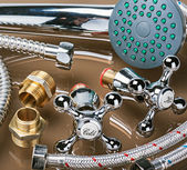 Bathroom fixtures and fittings — Stock Photo