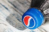 Plastic bottle with cola drink Pepsi — Stock Photo