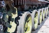 Caterpillar Russian tank. — Stock Photo