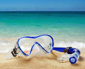 Snorkel and scuba mask   — Stock Photo
