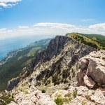 High rocks Ai-Petri of Crimean mountains — Stock Photo #48749839
