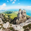 High rocks Ai-Petri of Crimean mountains — Stock Photo #48749843