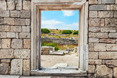 Cultural monument Chersonese — Stock Photo