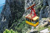 Ropeway in Yalta leading to the top of Ai-Petri mountain — Stock Photo