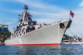 Russian guided missile cruiser Moskva — 图库照片