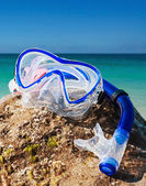 Swim snorkel and mask for diving   — Stock Photo