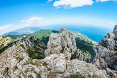 High rocks Ai-Petri of Crimean mountains  — Stock Photo