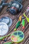 Fishing tackle spinning   — Stock Photo